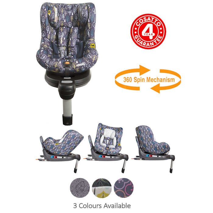 Cosatto Come And Go 360 Spin Group 0+ / 1 Isofix Car Seat