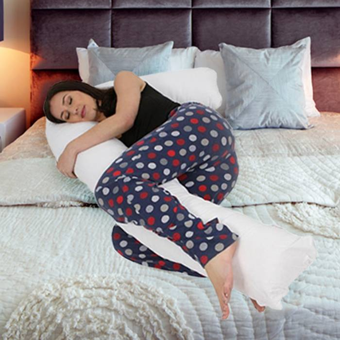 Giant L-Shaped Support Pillow with Optional Cover - 6 Colours