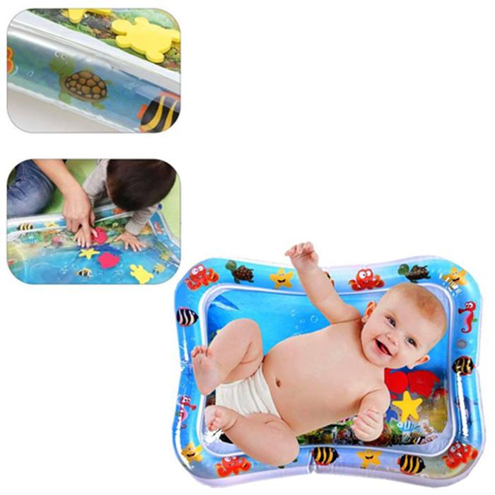 Inflatable 'Tummy Time' Baby Water Mat