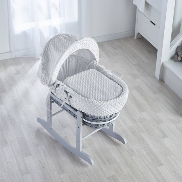Kinder Valley Wicker Moses Basket & Rocking Stand