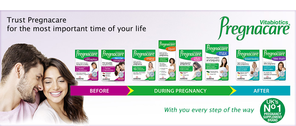 Vitabiotics Pregnacare - Trust Pregnacare for the most important time of your life - with you every step of the way - UK's No 1 pregnancy supplement brand