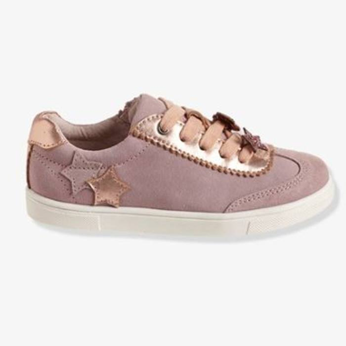 Vertbaudet-Girls-leather-trainers