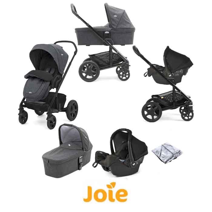 Joie Chrome DLX (Gemm) Travel System With Carrycot