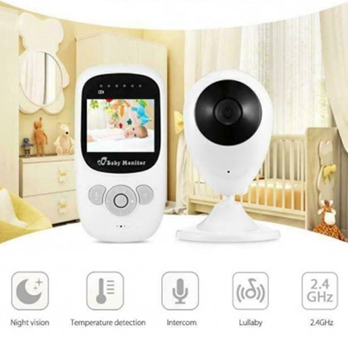 Wireless HD Night Vision Baby Monitor With Thermometer