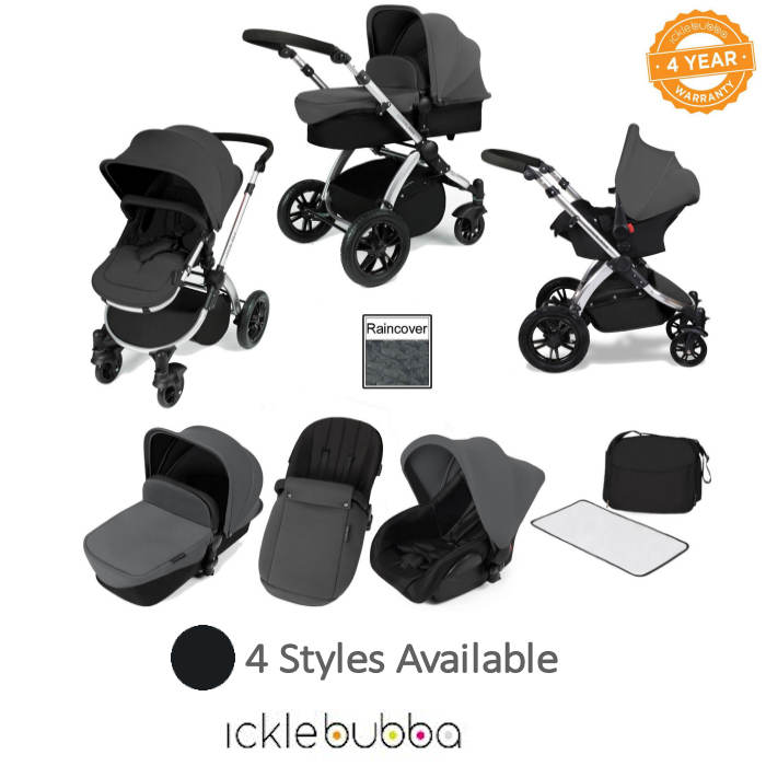 ickle bubba Stomp V2 (Black Frame) All In One Travel System