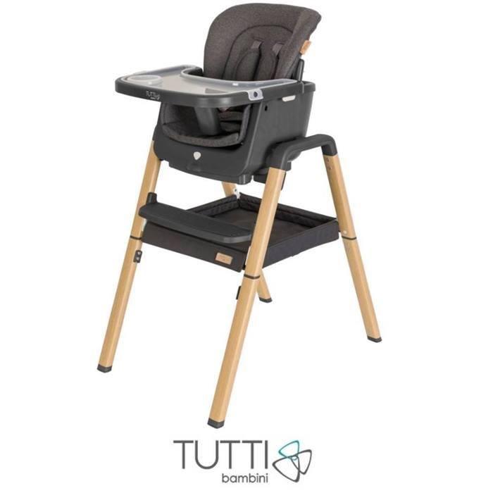Tutti Bambini Nova Evolutionary Highchair-Grey/Oak