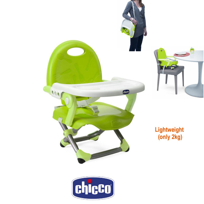 Chicco Pocket Snack Portable Highchair Booster Seat - Lime