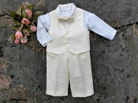 Christening suit for a boy