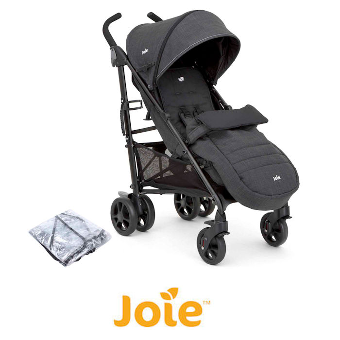 Joie Brisk LX Stroller / Pushchair With Footmuff - Pavement