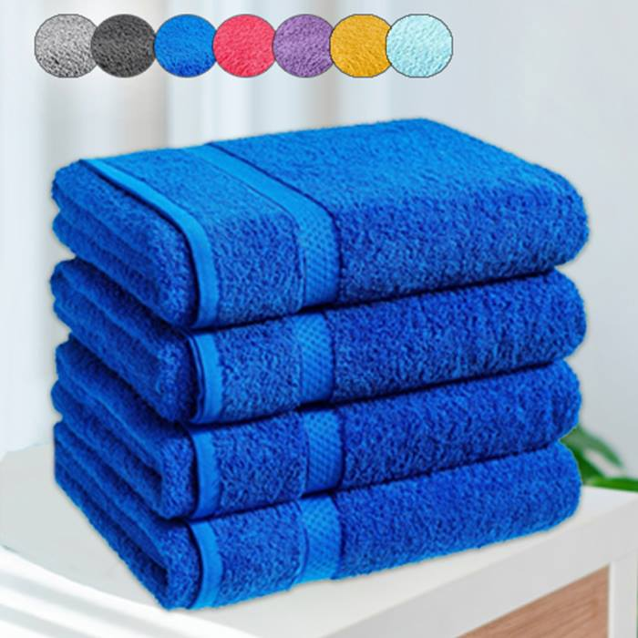 4 x Jumbo Egyptian Cotton Bath Sheets - 13 Colours