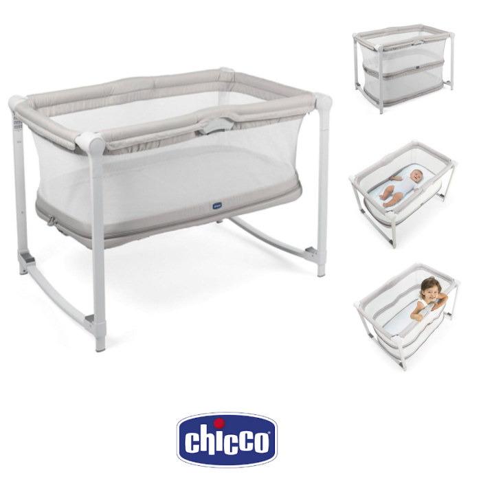 Chicco Zip Go Travel Cot Side Crib Glacial