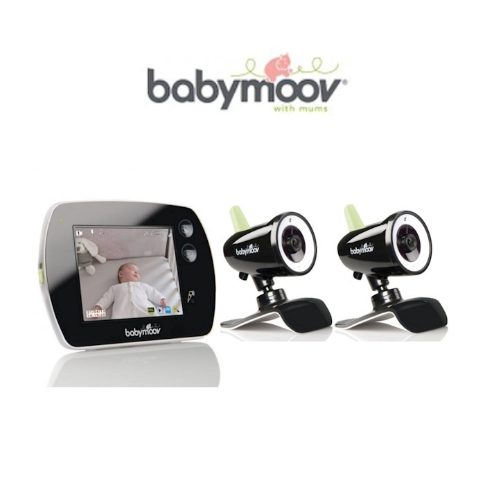 Babymoov Touch Screen Video Monitor  2x Transmitter Cameras