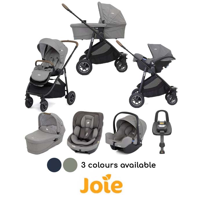 Joie Versatrax (i-Snug & i-Venture) Travel System with Carrycot & Isofix Base Bundle