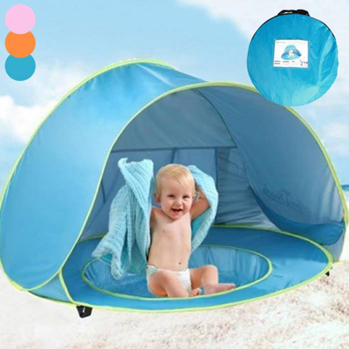 Kids Portable Waterproof Paddling Pool Tent - 3 Colours