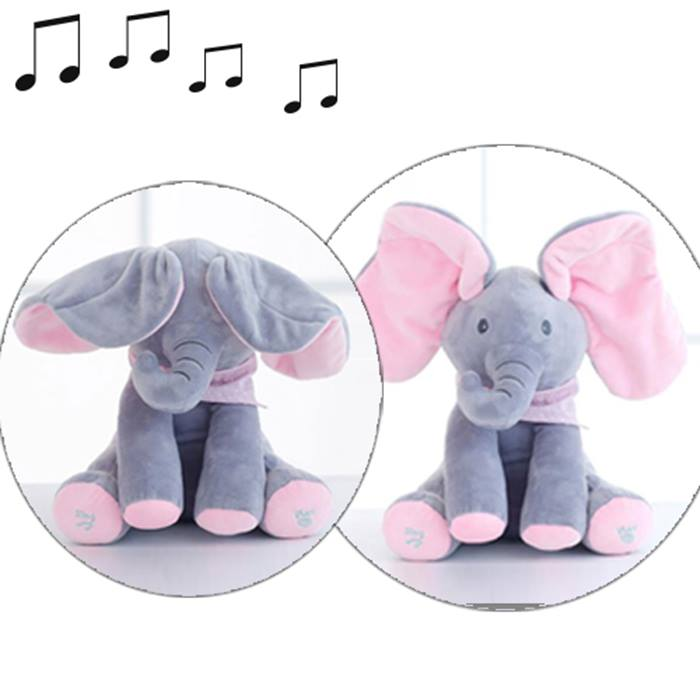Musical Peek-a-Boo Elephant Toy - 1 or 2