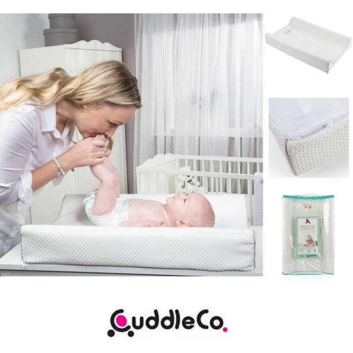 Cuddle Co Comfi-Change Memory Foam Soft Bamboo Designer Changing Mat