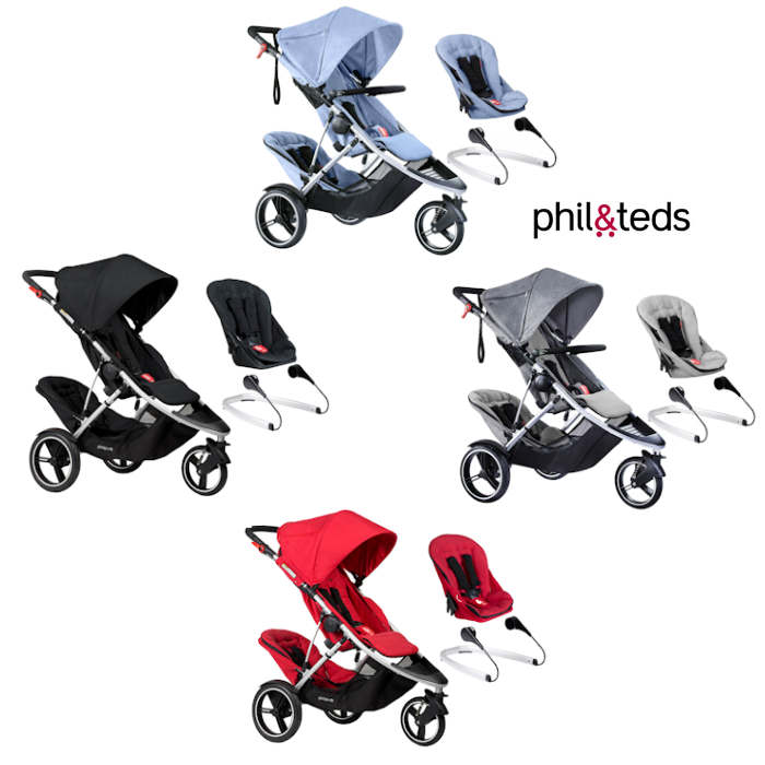 Phil  Teds Dash Tandem Pushchair  Lazyted Bouncer Adaptors