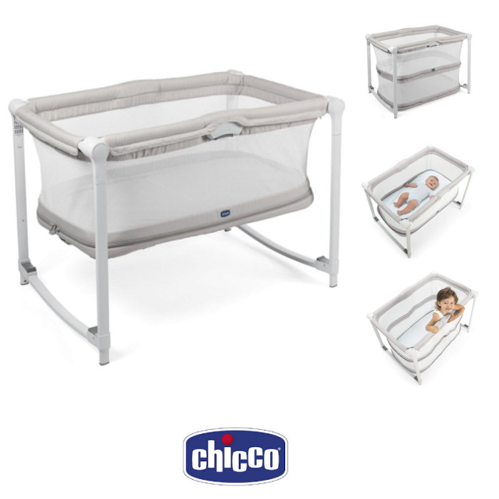 Chicco Zip & Go Travel Cot / Side Crib - Glacial