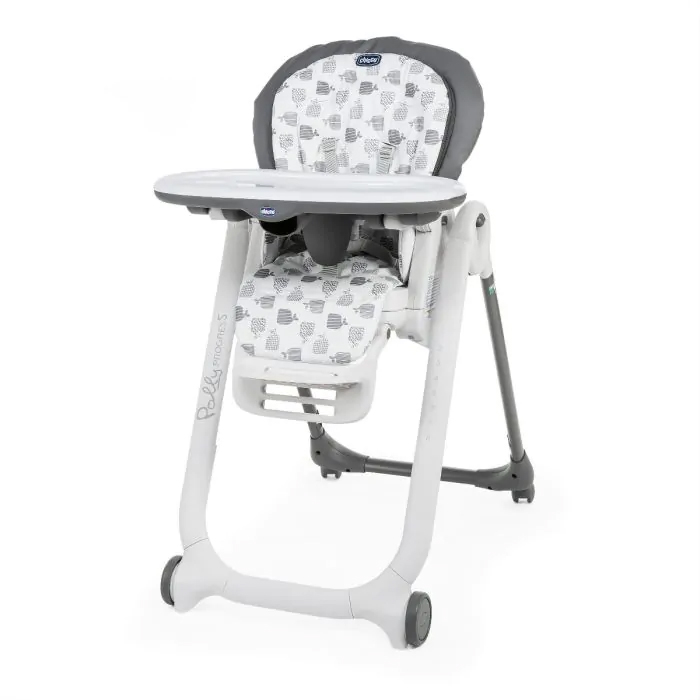 Chicco Polly Progress Highchair, From Birth to 3 Years - Grey
