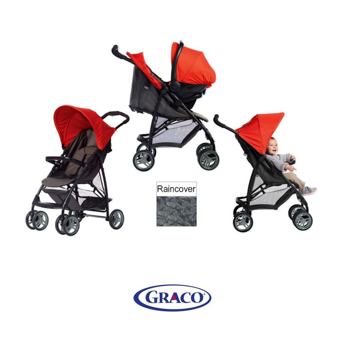 Graco Literider Travel System - Red  Black