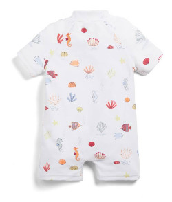 Mamas and Papas Seahorse Print Rash Suit