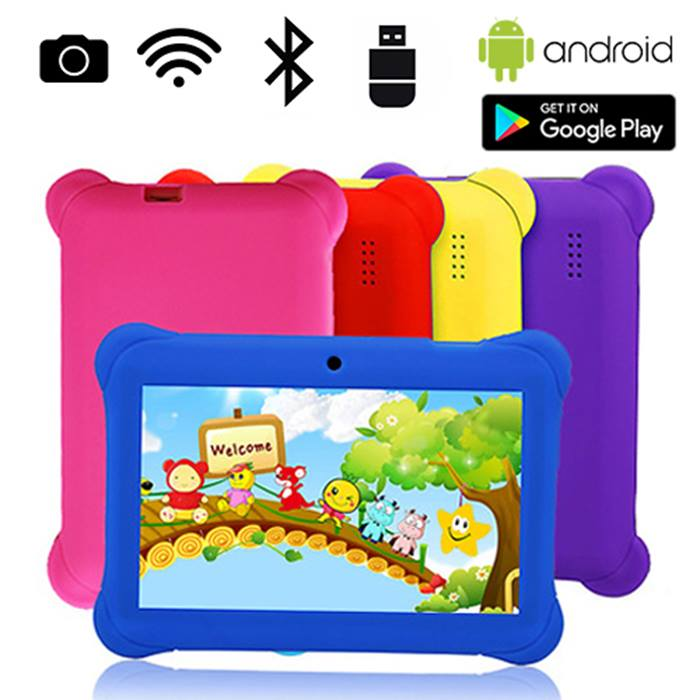 7 Inch Quad Core 8GB Wi-Fi Bluetooth Kids Tablet With Case - 5 Colours