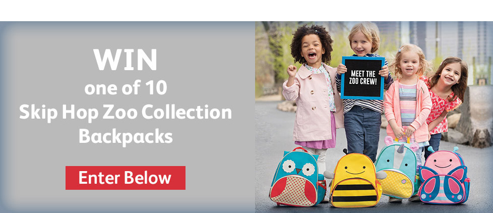 Win one of 10 Skip Hop Zoo Collection Backpack