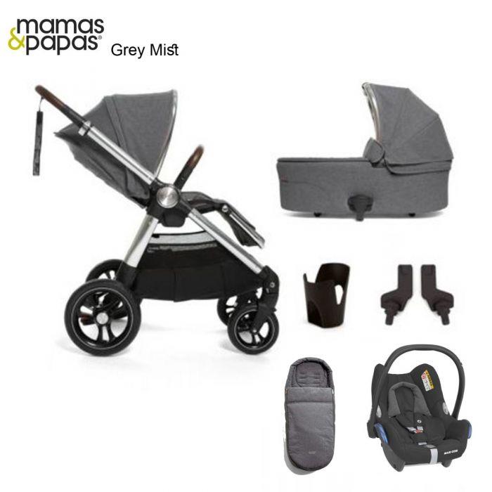 Mamas & Papas Ocarro 6 PC Cabriofix Bundle - Grey Mist