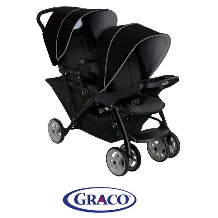 Graco Stadium Duo Tandem Pushchair - Black / Grey