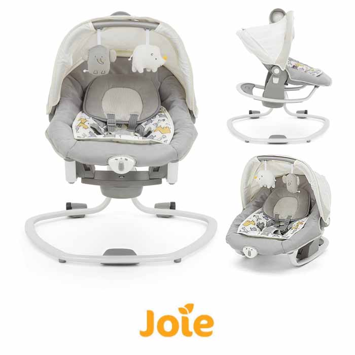 Joie Mothercare Haven Serina Deluxe 3in1 Musical Swing Rocker - Urban Safari