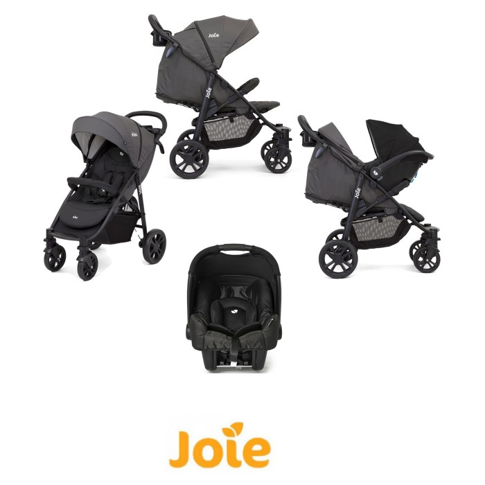 Joie Litetrax 4 Wheel (Gemm) Pushchair Travel System - Coal