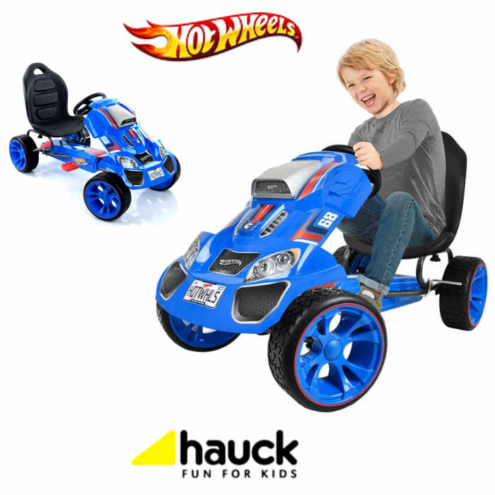 Hauck Hot Wheels XL Pedal Grow With Child Go-Kart (3-12yrs) - Blue