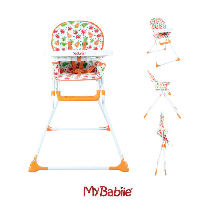 My Babiie MBHC1 Compact Highchair  Apples  Pears