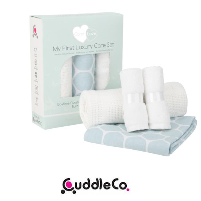 Cuddle Co Comfi Love My First Luxury 4 Piece Baby Pram/Moses Blanket & Washcloth Care Set