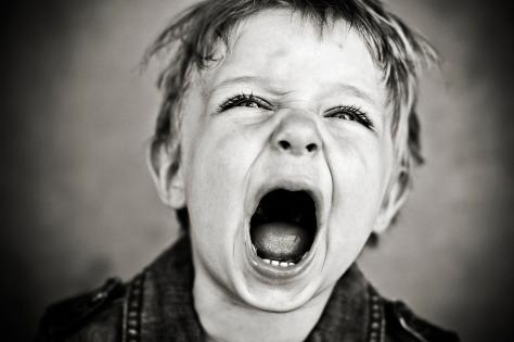 Boy toddler having a tantrum