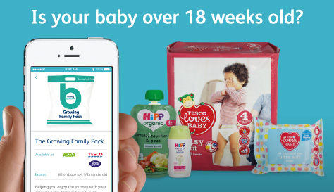Collect your Growing Family Pack when your baby is over 18 weeks