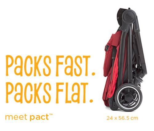 Packs fast. Packs flat. Meet pact.