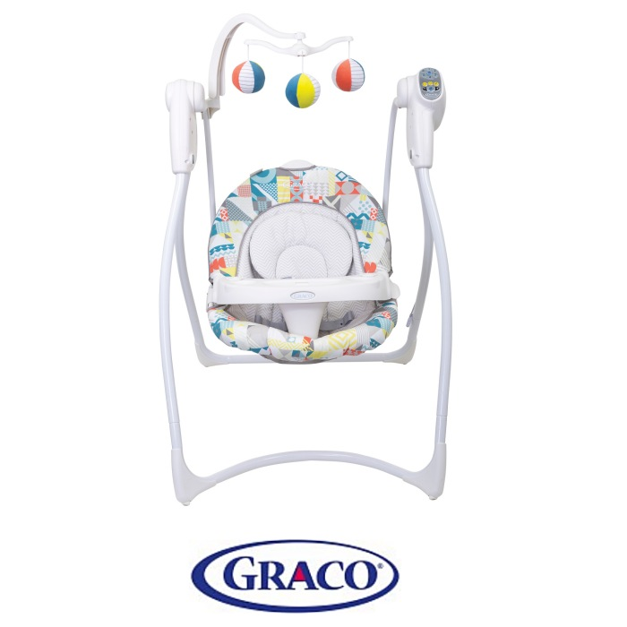 Graco Lovin Hug Baby Swing (With Plug) - Patchwork Grey