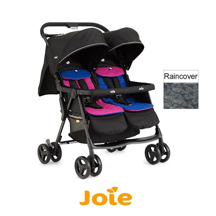 oie Aire Twin Stroller - Pink  Blue