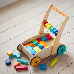Baby Walker with Bright Wooden Blocks 250