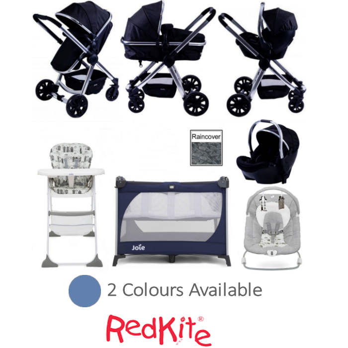Red Kite / Joie Push Me Fusion All You Need Travel System Bundle