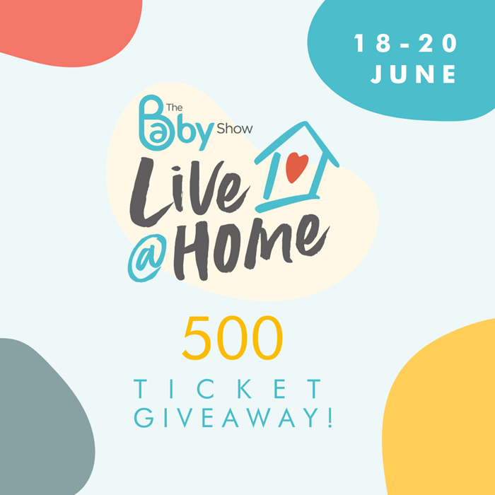 500 ticket giveaway to June's Baby Show Live @ Home!
