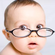 Baby in glasses