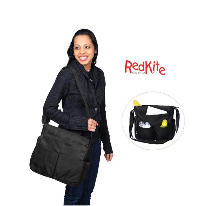 Red Kite Messenger Bag - black