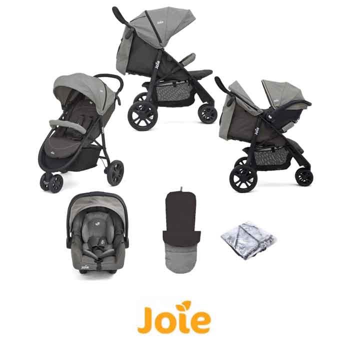 Joie Litetrax 3 Wheel (Gemm) Pushchair Travel System