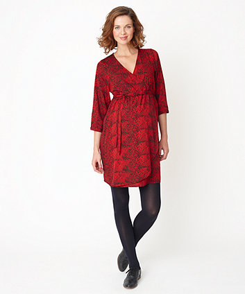 Mothercare red maternity dress