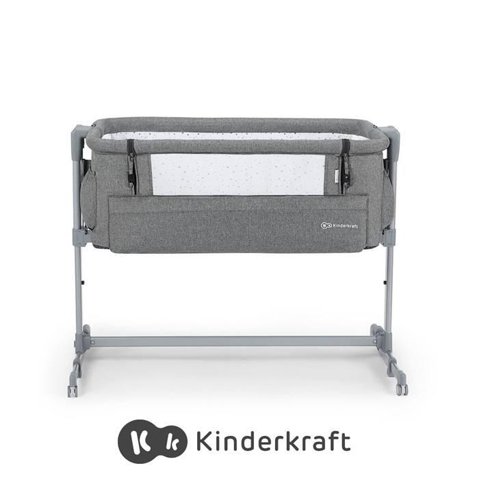 Kinderkraft Neste Up Bedside Crib-Grey Melange