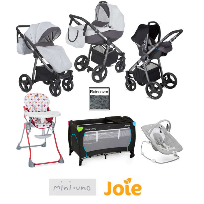 Joie - Mini Uno StrideTravel System Bundle