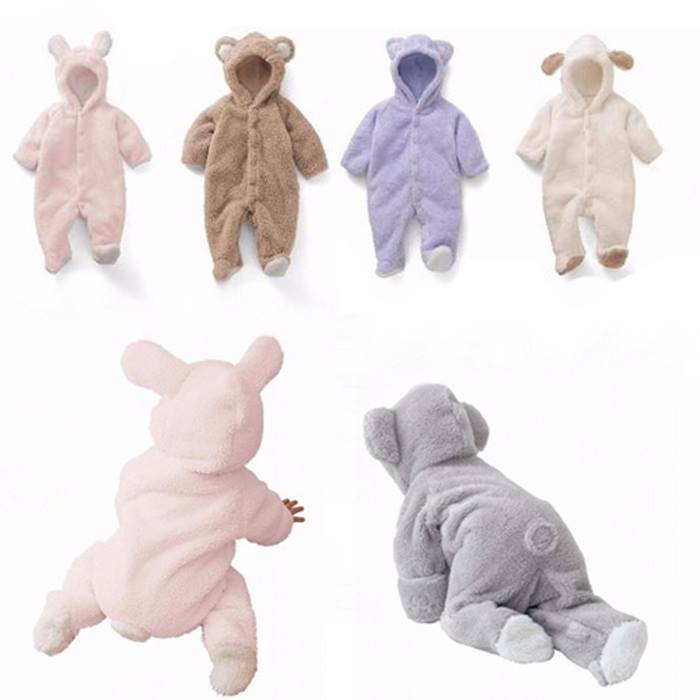 Newborn Baby Teddy Romper - 4 Sizes & 5 Colours