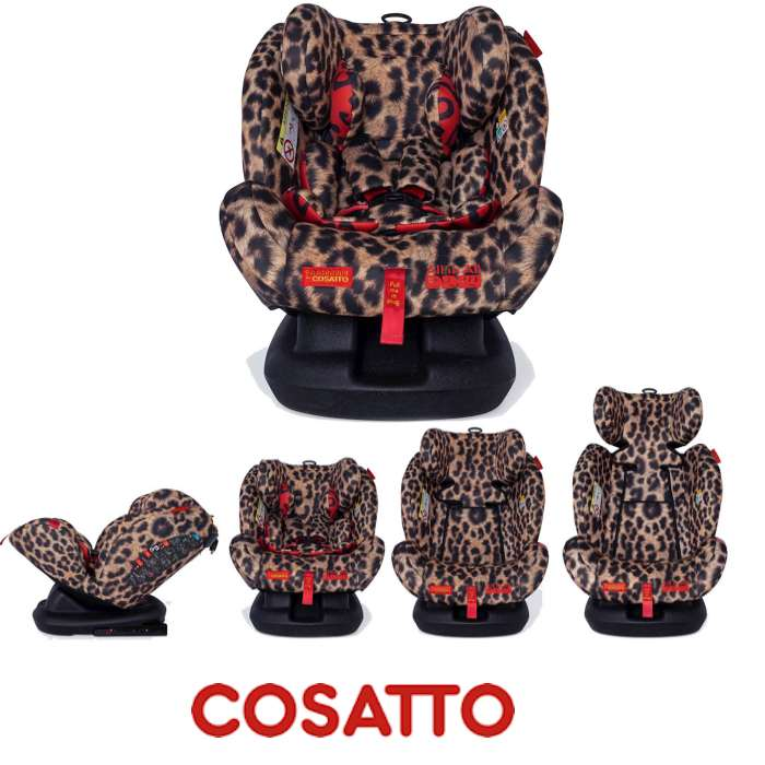 Cosatto Paloma All In All Group 0123 Isofix Car Seat Hear Us Roar